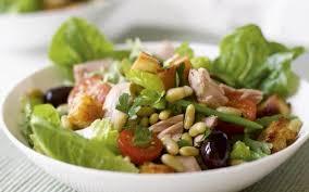 maaltijd salade tonijn